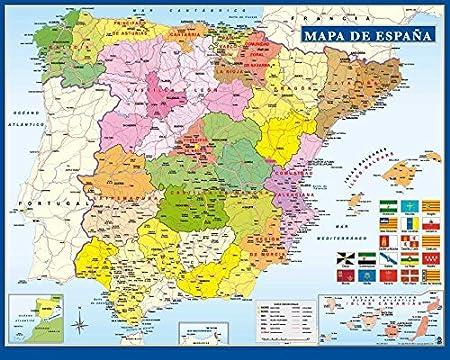 Cartina Della Spagna.Grupo Erik Editores Mini Poster Mappa Della Spagna