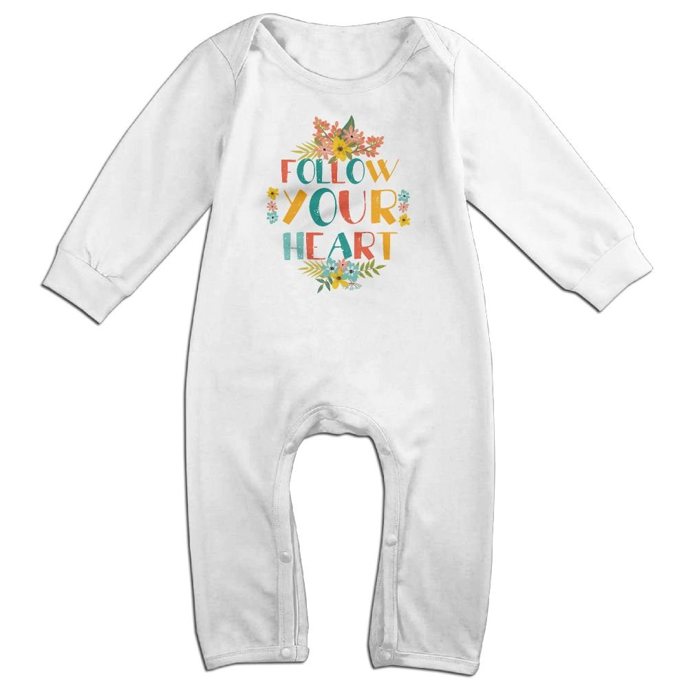Uangshanl Follow Your Heart Baby Boy Kids Warm Infant Long Sleeve Romper Jumpsuit Clothes Outfit