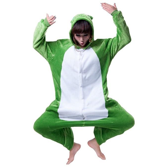 Misslight pijama o disfraz de unicornio unisex para niño o adulto rana Small