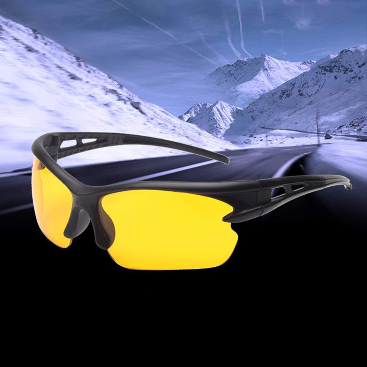 DEjasnyfall Uv400 hd nachtsicht Radfahren reiten Fahren Brille Sport Sonnenbrille Brille blau + grau