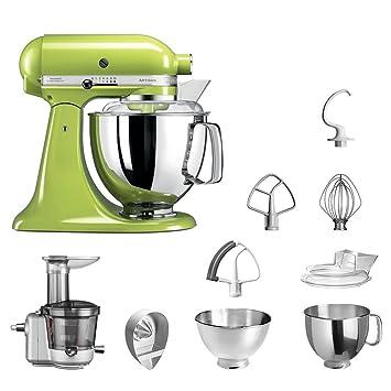 KitchenAid Robot de cocina fop Conjunto   Artisan 5 ksm175ps Licuadora del paquete  , incluye Licuadora vorsatz, Exprimidor y accesorios estándar verde ...
