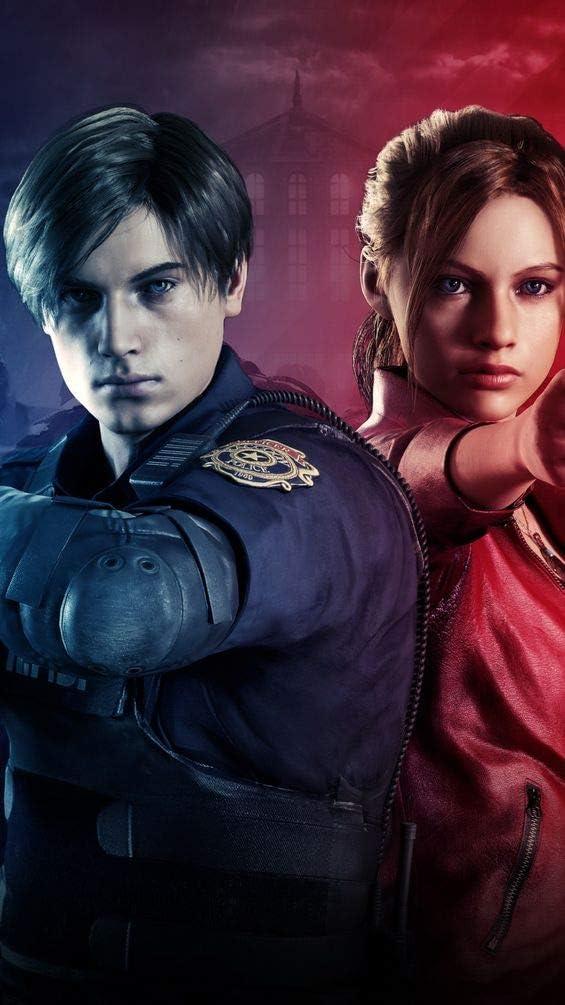 Amazon Com Jinjing Prints Resident Evil 2019 Claire Leon S