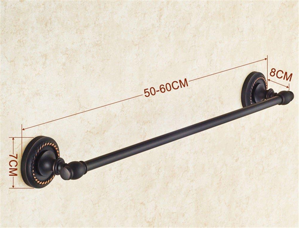 KaO0YaN Toallero Perchero Pared de de de Cocina Baño Toallero de Cobre Negro de Poste único 60cm 8425dd