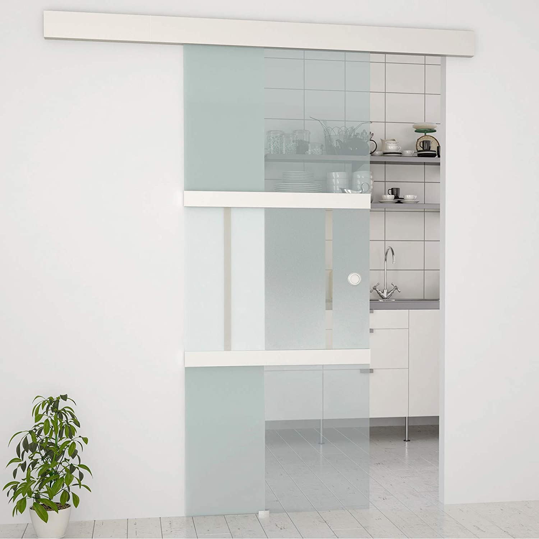 Jago - Puerta corredera de vidrio - transparente - alta caldiad de ...