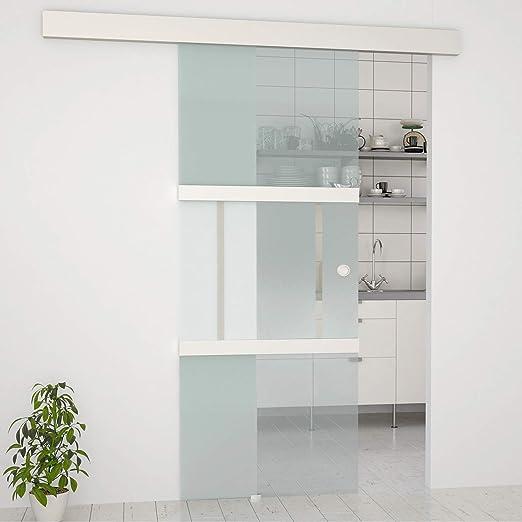 Jago Glasschiebetur 77 5 X 205 Cm Komplettset Mit Laufschiene