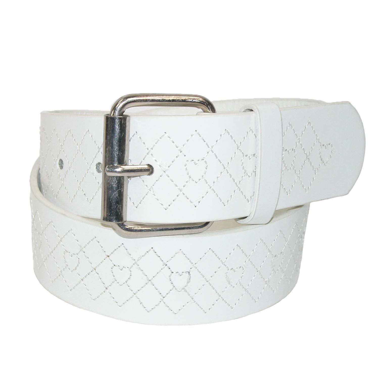 Landes Girls' Argyle and Heart Embossed Bridle Belt