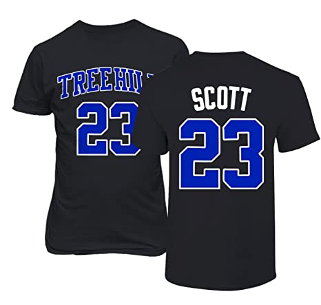 96b4be225a8a RAVENS Basketball Movie  23 Nathan Scott One Tree Hill Jersey Style Men s T  Shirt (
