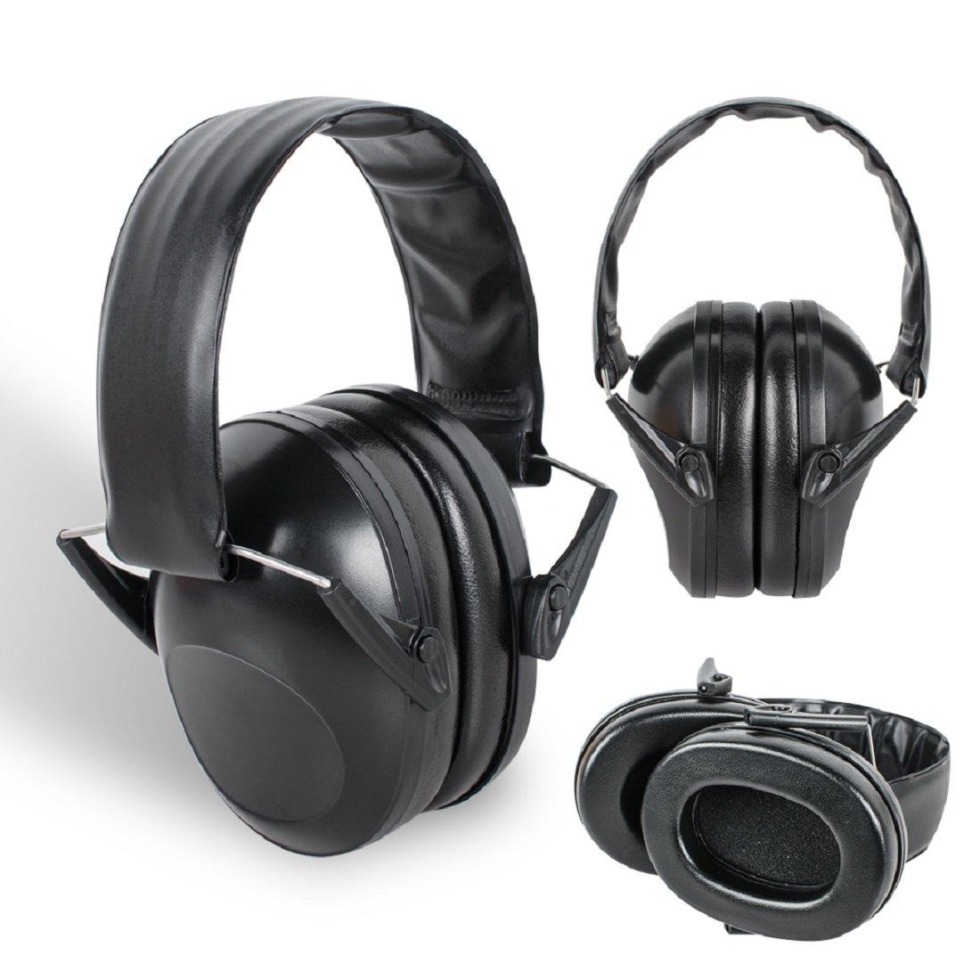 Tinsay 21dB Tactical Protective Earmuffs Outdoor Hunting Shooting Supplies Noise Earmuffs Hearing Protection Earmuffs Black