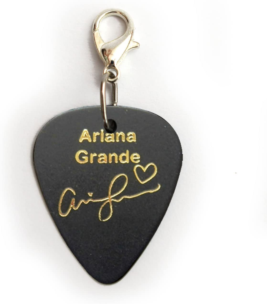 A Initial Name Gold Printed Guitar Pick Plectrum Necklace Bracelet Keyring Badge