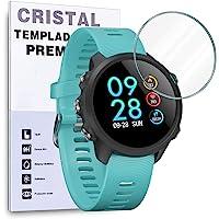 REY Protector de Pantalla para Garmin Forerunner 220 225 235 620, Cristal Vidrio Templado Premium