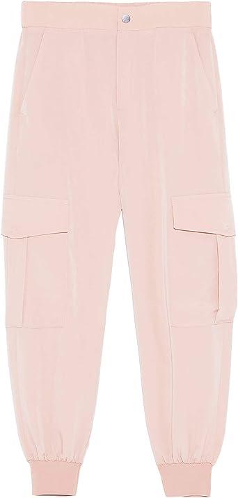 Zara 1608 028 Pantalon De Mujer Con Bolsillos Rosa L Amazon Es Ropa Y Accesorios