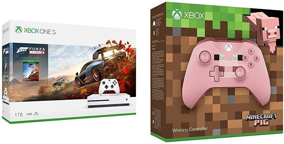 Microsoft Xbox One S 1 TB + Forza Horizon 4 + Mando Inalámbrico: Edición Limitada Minecraft Pig: Amazon.es: Videojuegos