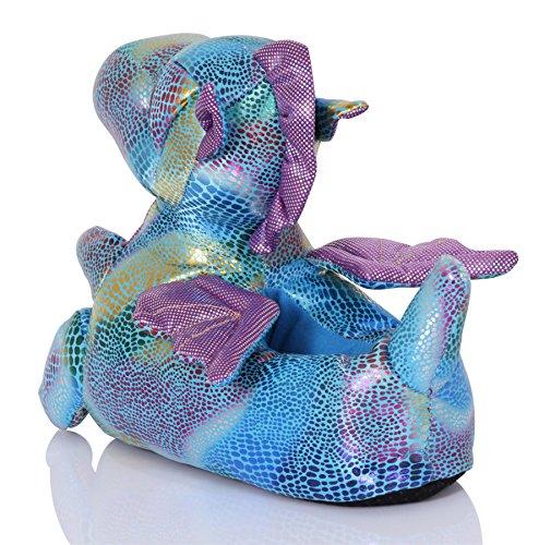 Snuggles Clothing, Para Mujer Cómodas Novedad 3D Animal Pantuflas - Dragón Draco, 40.5-42 EU / L