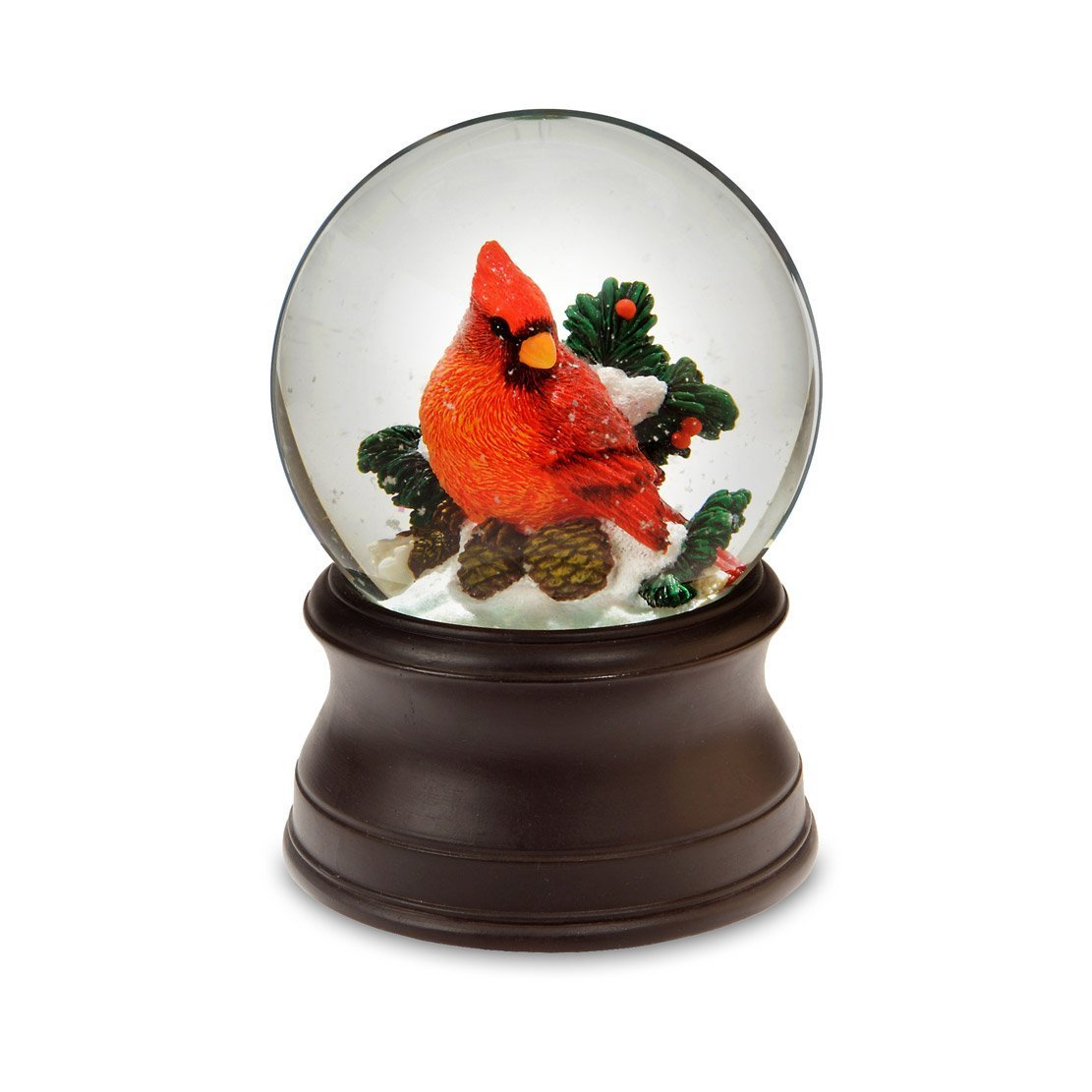 Hand Crafted Cardinal Snow Globe from The San Francisco Music Box Company
