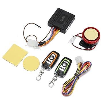Rupse Alarma antirrobo Impermeable con Control Remoto para Motocicleta Warm de Dos Colores