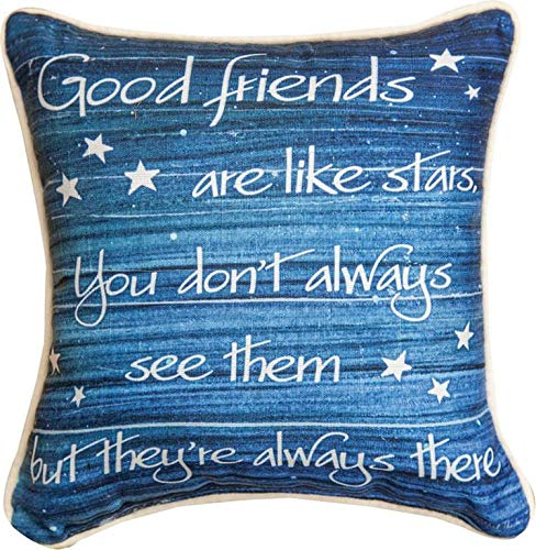 Good Friends Pillow - Manual Good Friends Are Like Stars. -KT2-12 Dye Pillow