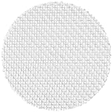 Nylon 6/6 Woven Mesh Round, Opaque Off-White, 1/2'' OD, 150 microns Mesh Size, 47% Open Area (Pack of 100)