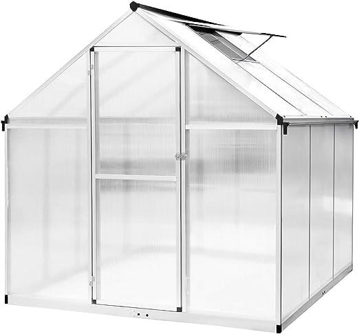 Allthemen Invernadero de jardín de policarbonato con Marco de Aluminio Resistente al óxido, para la casa, jardín, Plantas y invernaderos: Amazon.es: Jardín
