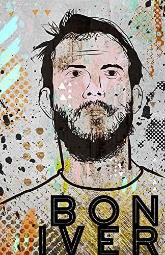 bon iver poster pop art poster wall art limited edition of 100 justin vernon. Black Bedroom Furniture Sets. Home Design Ideas