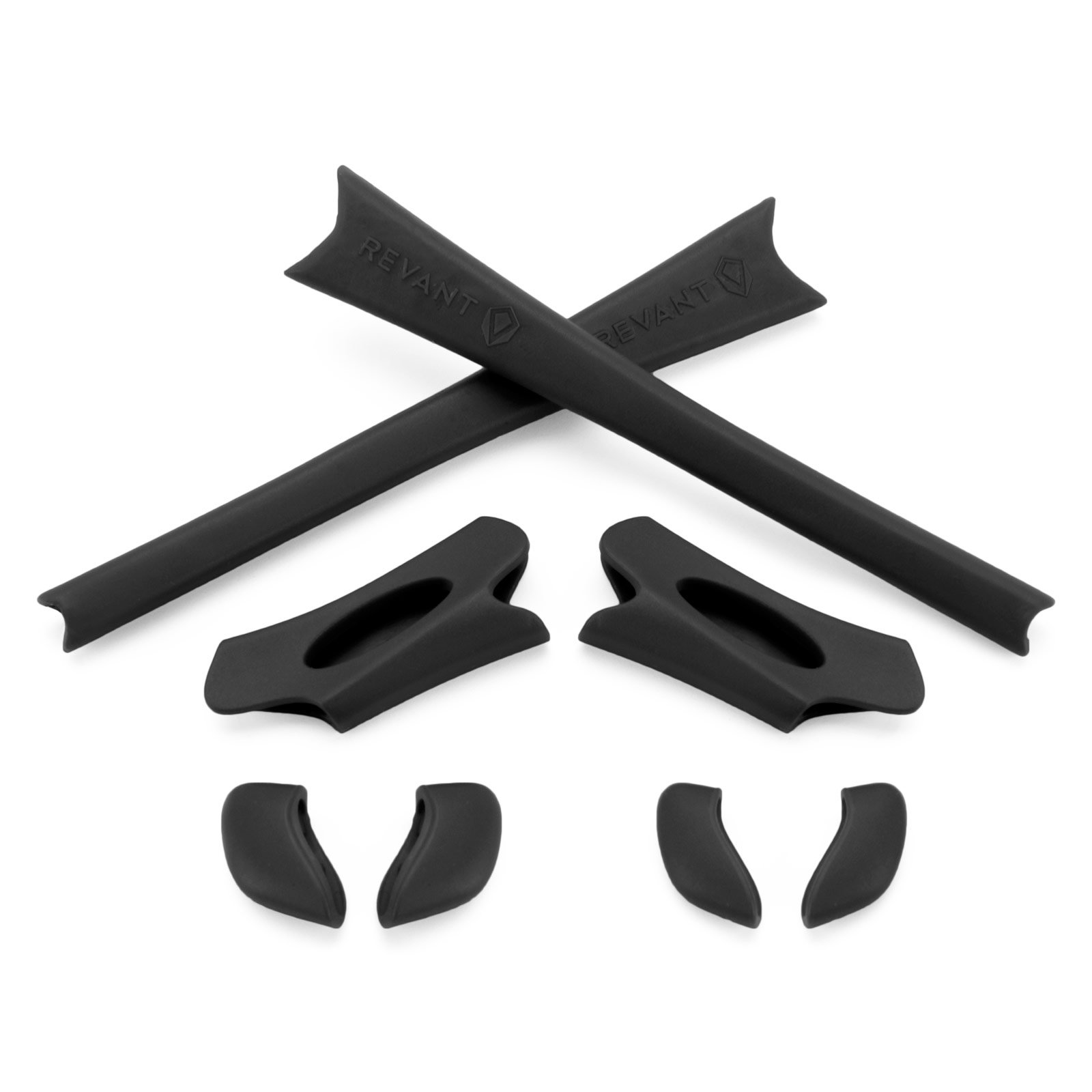 749ba36728 Revant MaxGrip Temple Sleeve Nose Pad Kit for Oakley Flak Jacket - Black  product image
