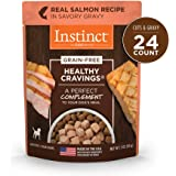 Instinct Healthy Cravings Grain Free Real Salmon Recipe Natural Wet Dog Food Topper by Nature's Variety, 3 oz. Pouches…
