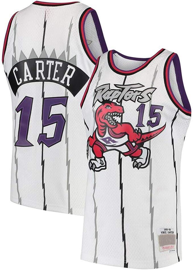 AMJUNM Camiseta de Baloncesto para Hombre Mujer, Toronto Raptors 15# Carter Jugador de Baloncesto Jeysey, Bordado Transpirable y Resistente al Desgaste Camiseta para Fan: Amazon.es: Deportes y aire libre