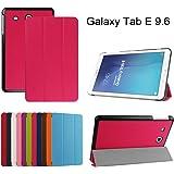 """Samsung Galaxy Tab E 9.6 Ultra Custodia,Mama Mouth Ultra sottile di peso leggero con supporto in Piedi caso Case per 9.6"""" Samsung Galaxy Tab E 9.6 T560 T561 Android Tablet,Magenta"""
