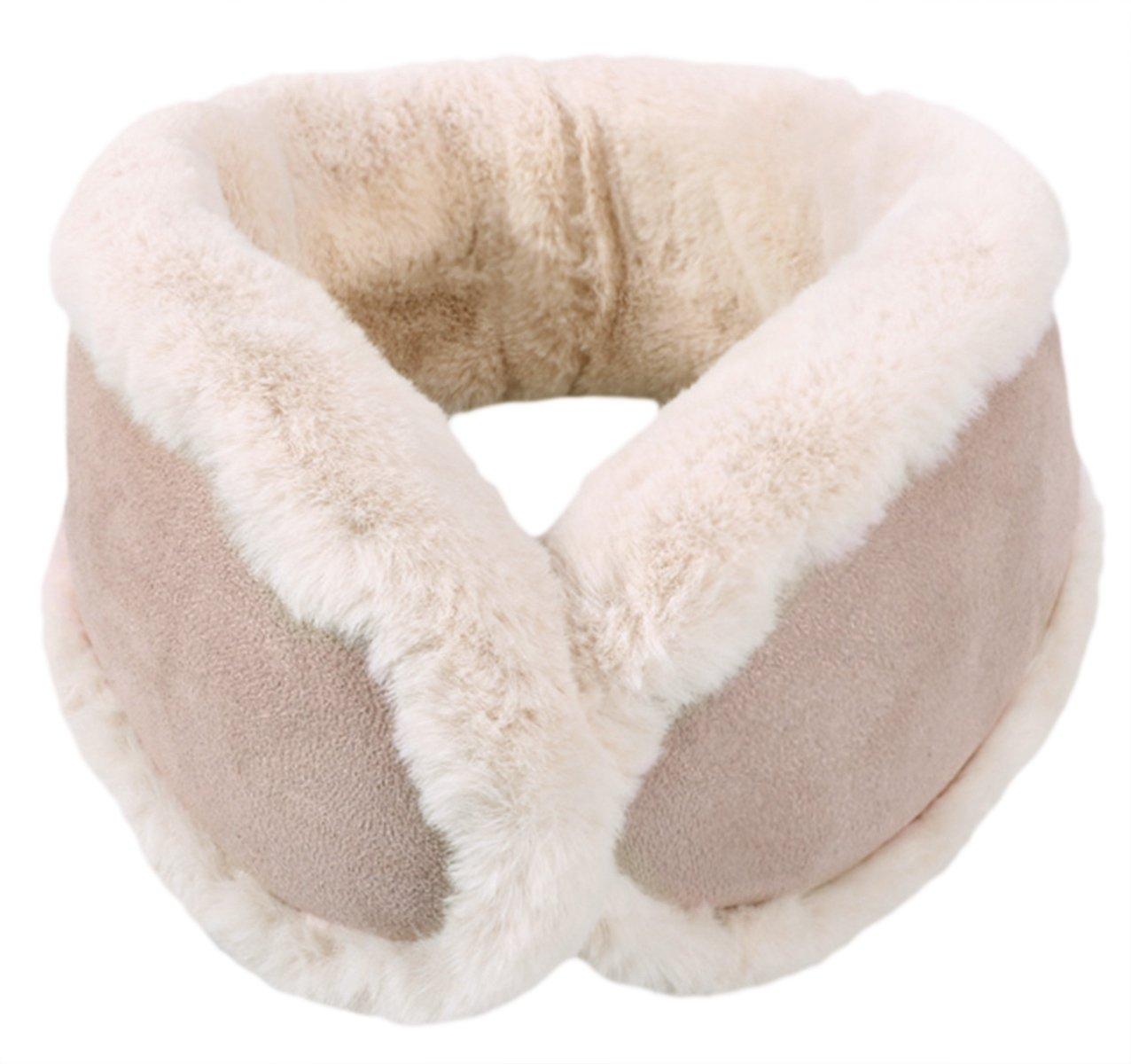 Knolee NEW Unisex Multi-function Earmuffs Earflap Foldable Outdoor Ear Muffs,Beige One Size