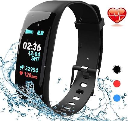 MOTOK Orologio Fitness Tracker Smartwatch Pressione Sanguigna Cardiofrequenzimetro Bluetooth Activity Tracker IP67 Impermeabile Orologio Sportivo per Uomo Donna iOS Android