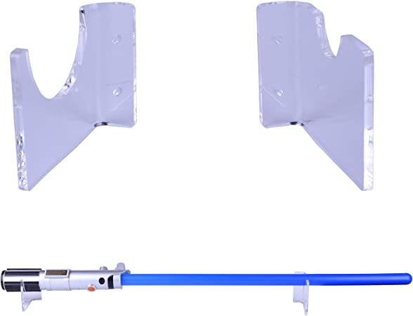 Lekusha Clear Horizontal Lightsaber Sword Holder Wall Mount Rack Hook Stand Compatible For Any Lightsaber Display Hardwares Included Amazon Co Uk Kitchen Home