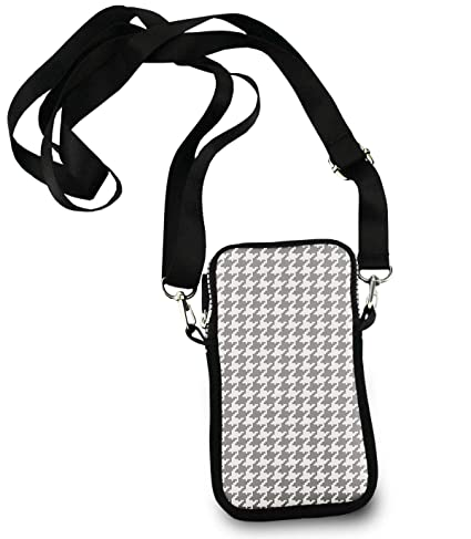 0425e4f6b38 Image Unavailable. Image not available for. Color: KYWYN Fashion Crossbody  Bag, Classic Houndstooth, Women's Cell Phone Wallet Purse for Shopping  Dating