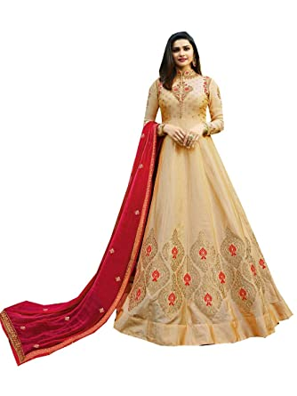 bec5ebbb1c STELLACOUTURE Embroidered Salwar Kameez Suit Indian Pakistani Suit for  Women Kashmir Valley (Beige, XS