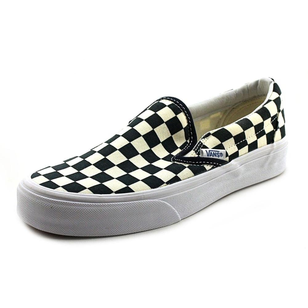 9c6db1888083 Amazon.com  Vans Shoes Classic Slip On (Golden Coast) DrBl Wht Ckr - Size  6  Sports   Outdoors