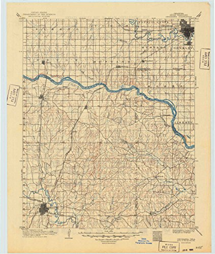 YellowMaps Chickasha OK topo map, 1:125000 scale, 30 X 30 Minute, Historical, 1904, updated 1949, 21.2 x 18 IN - Tyvek