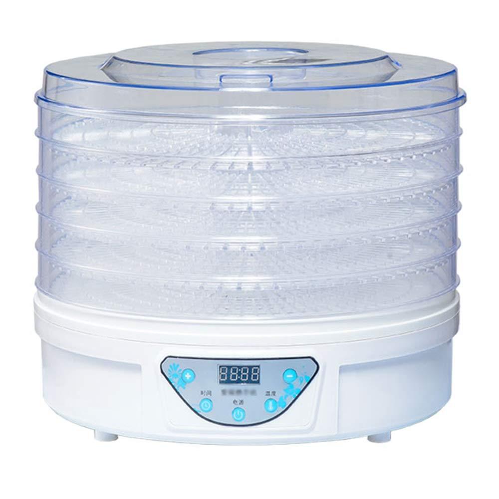 auténtico Jian E - - - Secador de alimentos - Categoría alimenticia PP, AS, 5 capas, projoección del medio ambiente, estante transparente, inteligencia de computadora, multiusos, máquina secadora de alimentos pequeñ  barato