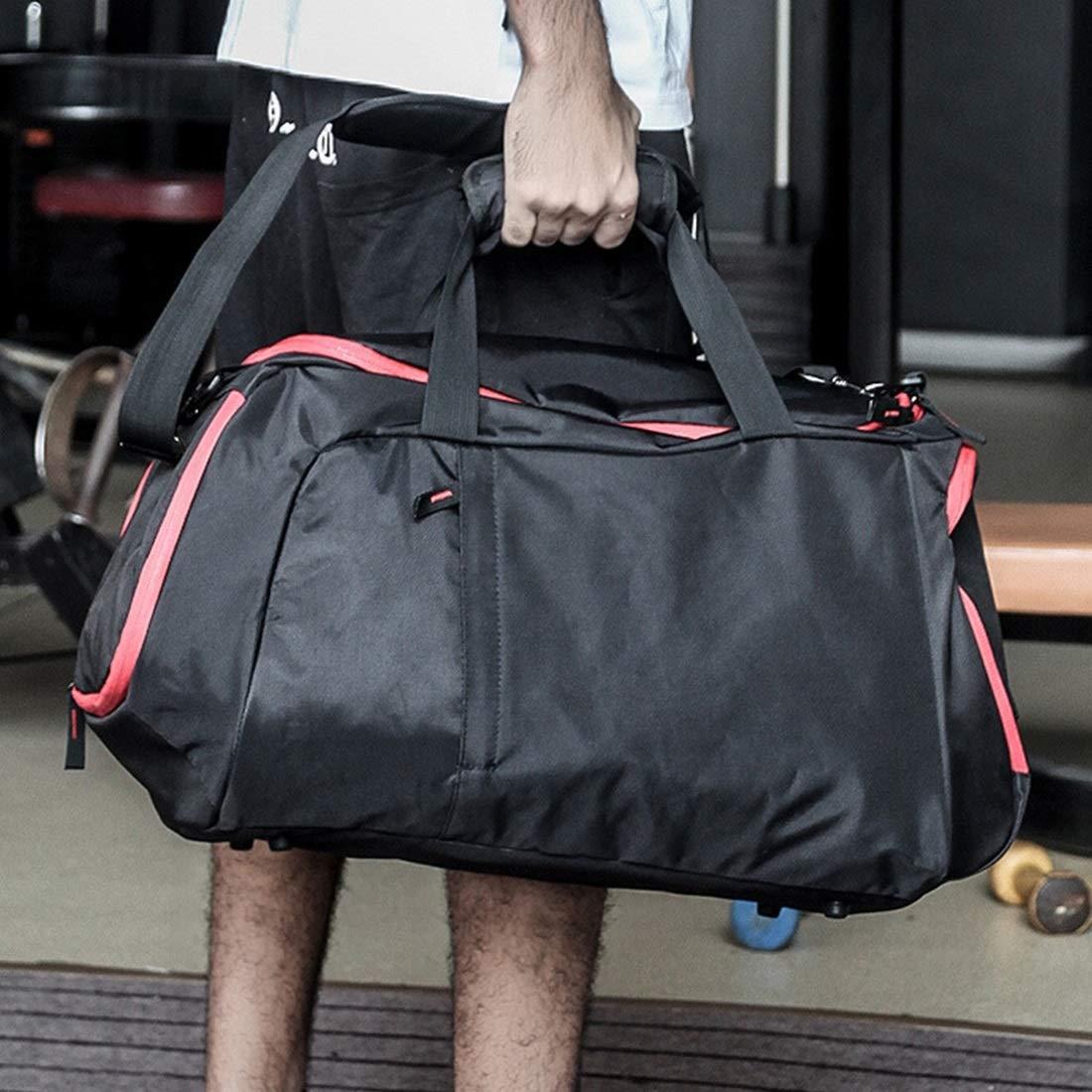 Souliyan Fitness Sports Bag Basketball Bag Training Bag Travel Bag with Shoe Compartment Black