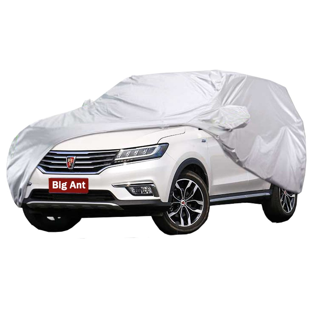 Big Ant Car Cover - Breathable Waterproof Car Covers All Weather Full Size Outdoor Snow Cover Custom Fit Sedan Up to 190 Inches-Sliver
