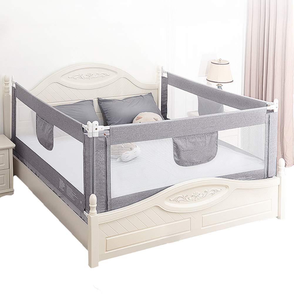 JY 3つの側面の組み合わせ垂直リフトベッドレール、赤ちゃんのアンチ秋のベッドサイドガードレール、子供のためのガードレールベッドフェンスの防止、幼児 (色 : Gray, サイズ さいず : 1.5m+2.0m+2.0m) 1.5m+2.0m+2.0m Gray B07M98K3G6