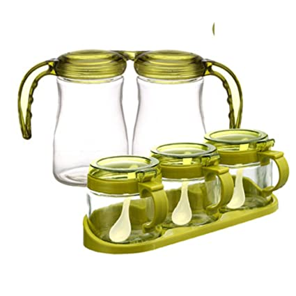 Amazon com: kitchen supplies glass Spice jar Spice boxes household