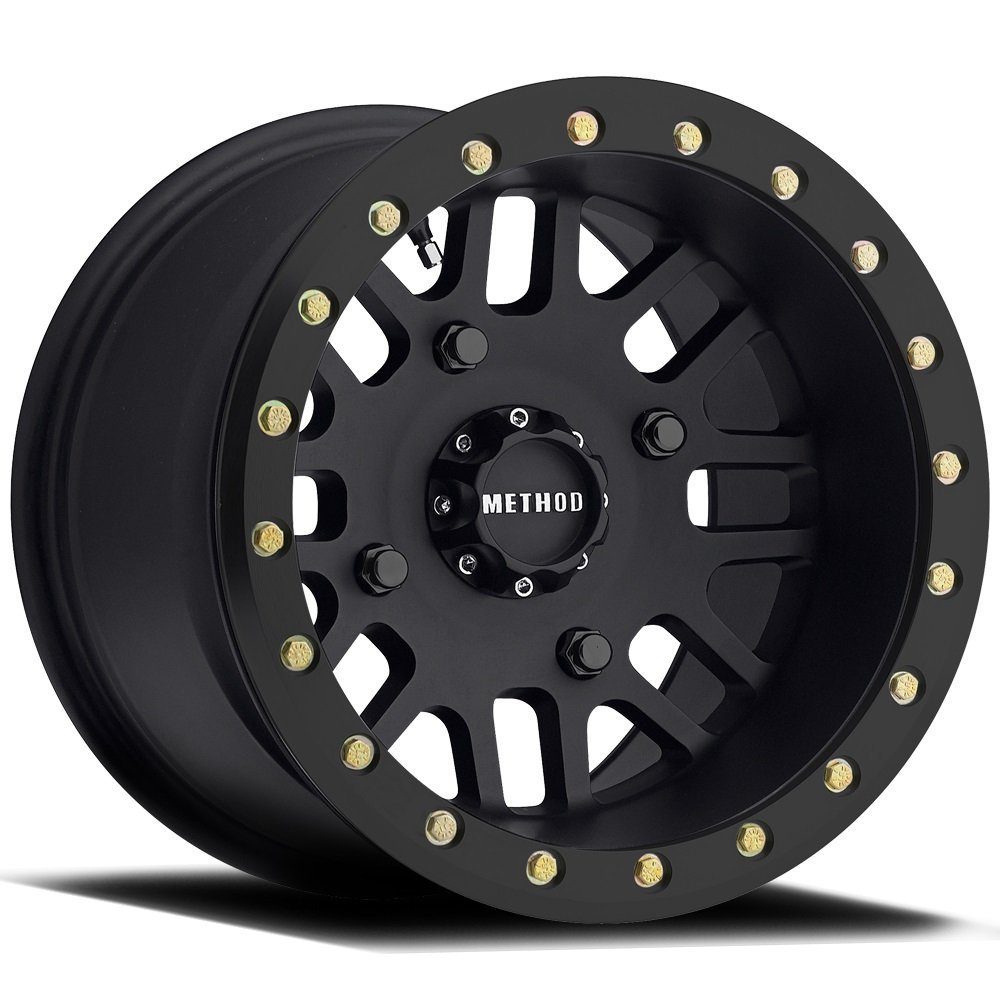 Method 406 Beadlock Matte Black ATV/UTV Wheel 14x8 4/156 - (4+4) Method Race Wheels MR40648046544B