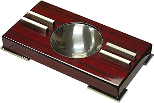 Prestige Import Group Contemporary Modern High Gloss Cherry Lacquer Ashtray