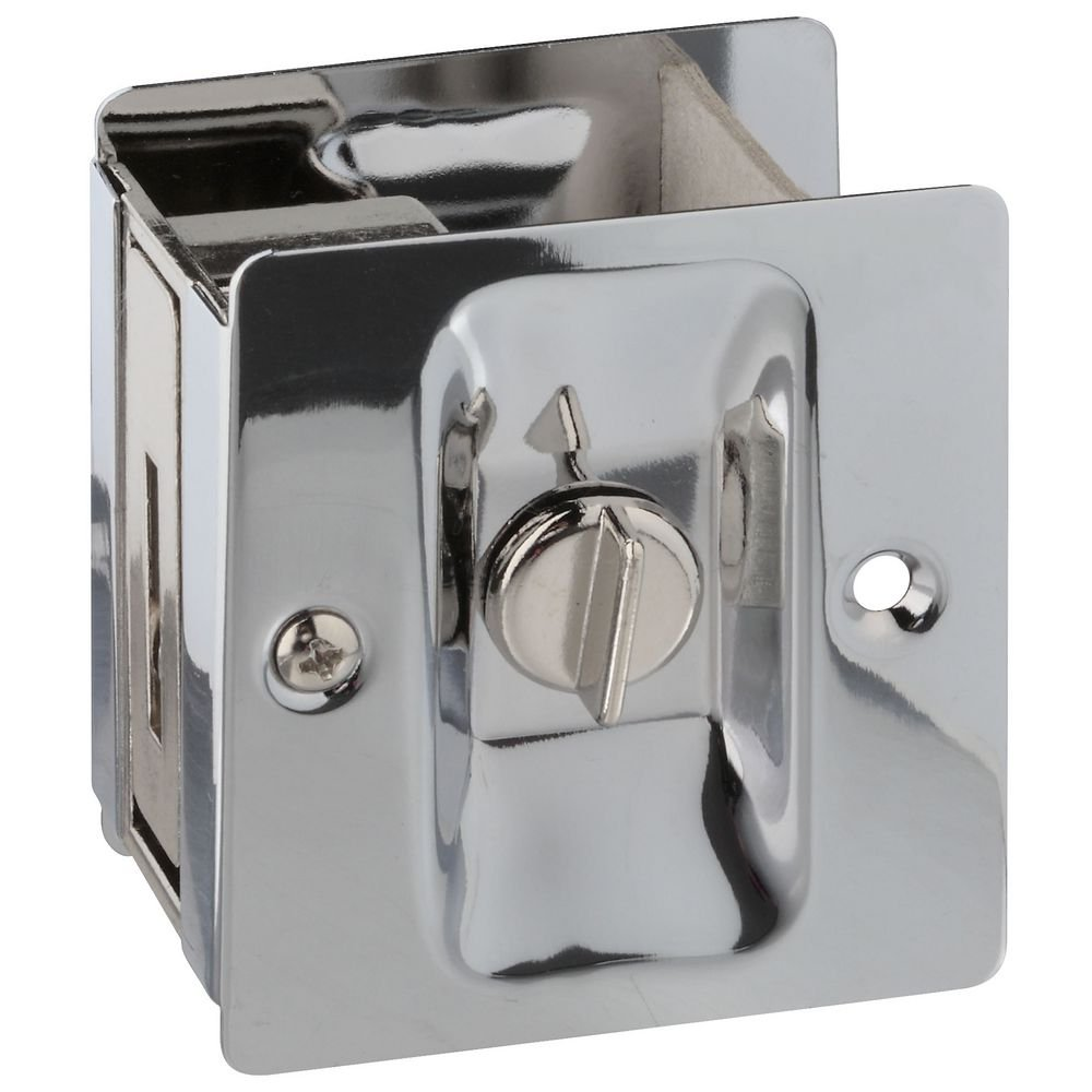 National Hardware N326-298 V1951 Pocket Door Latch in Chrome