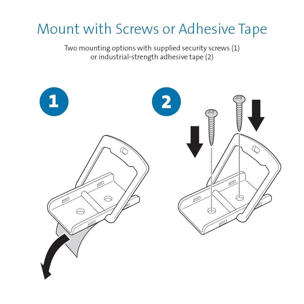 Renewed Kensington Desk Mount Anchor Accessory for Cable Locks K64613WW