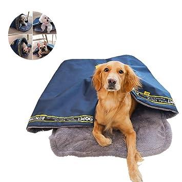 Niocase Saco de Dormir para Mascotas Cama para Perro Cálido Portátil Impermeable Oxford Tela Antideslizante Parte Inferior Cama para Mascotas para Perros y ...