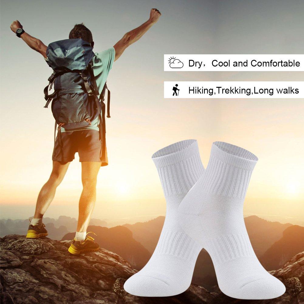 Calze Escursionismo e Trekking Comodo e Traspirante per Uomo e donna Calzini sportivi Low Cut da corsa BONANGEL alzini a cuscino Uomo Cotone Calze Sportive