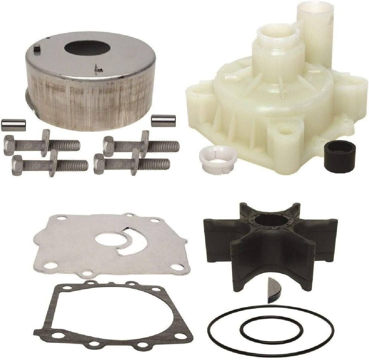 GLM Water Pump Impeller Repair Kit with Housing for Yamaha 4-Stroke 115 Hp F115 LF115 VF115, Replaces 68V-W0078-00-00 & 61A-44311-00 Read Item Description for Exact Applications