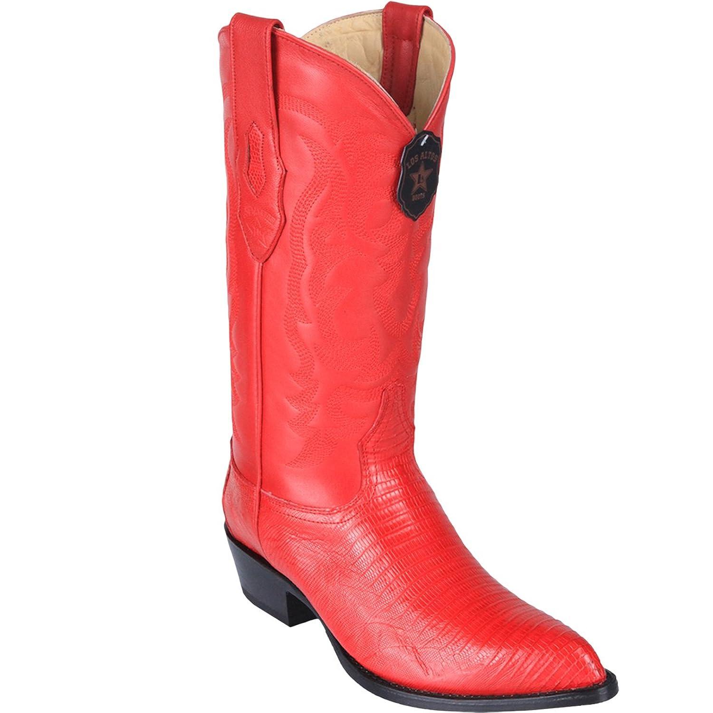 Original Red Lizard Teju LeatherJ-Toe Boot
