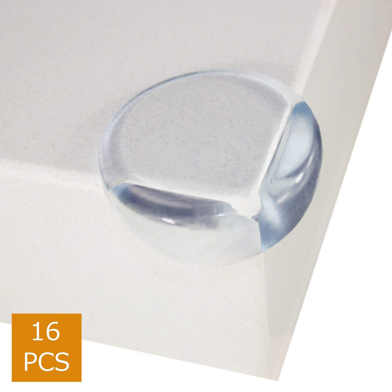 Halomy protecteurs d'angle de sécurité clair, Coin Protector, table d'angle Protège protéger l'enfant à partir de blessures, les surfaces, grand et clair, adhésif Fort pour une utilisation sauvegarde (16)