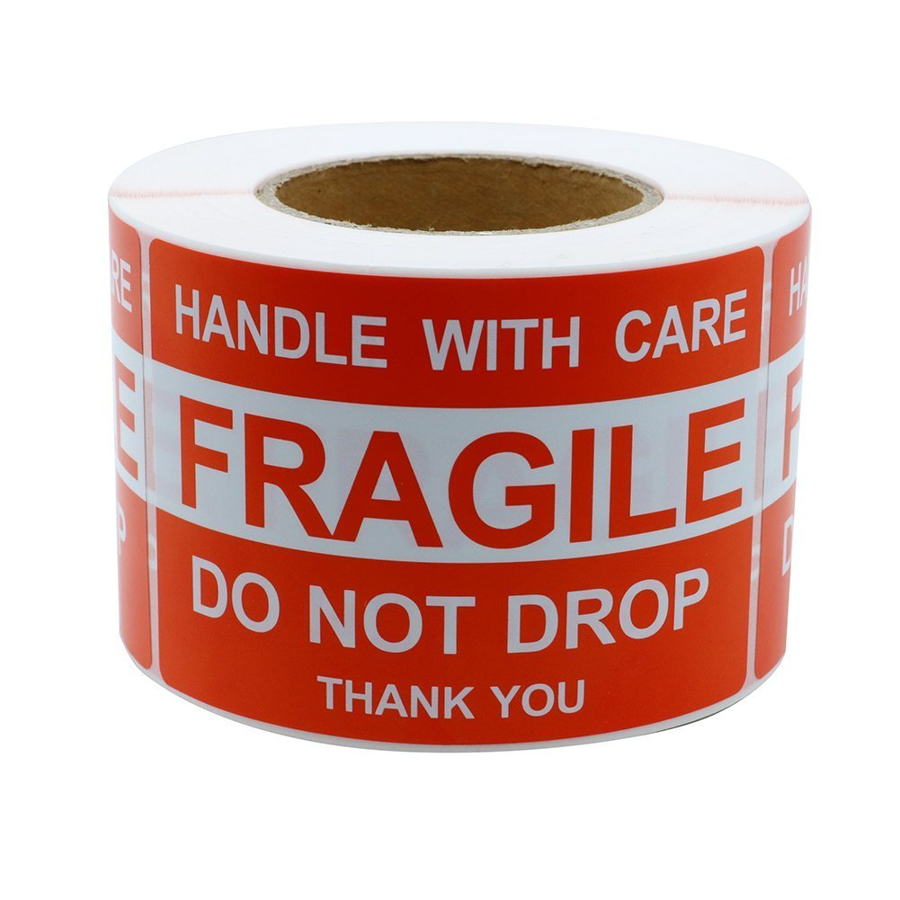 MFLABEL 4''x6'', Fragile Stickers, Do Not Drop Labels, Handle with Care Shipping Labels by MFLABEL (Image #1)