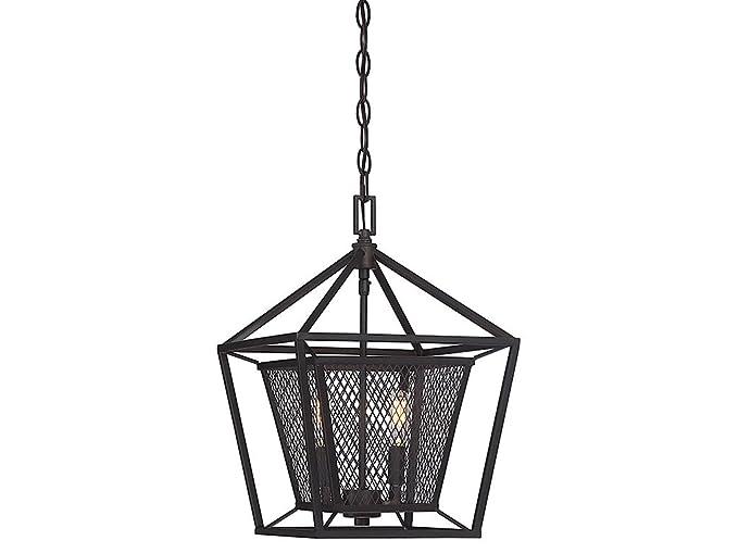 Amazon.com: Colgantes 2 luces con acabado en bronce inglés ...